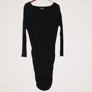 ATHLETA Sz XS Black Long Sleeve Scoop Neck Dress